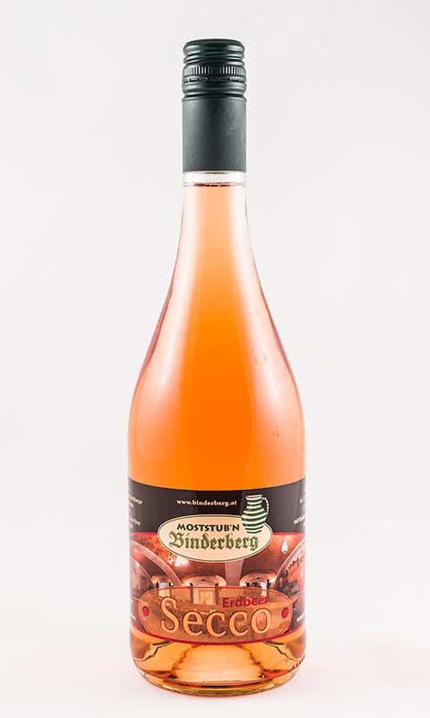 Flasche Erdbeersecco