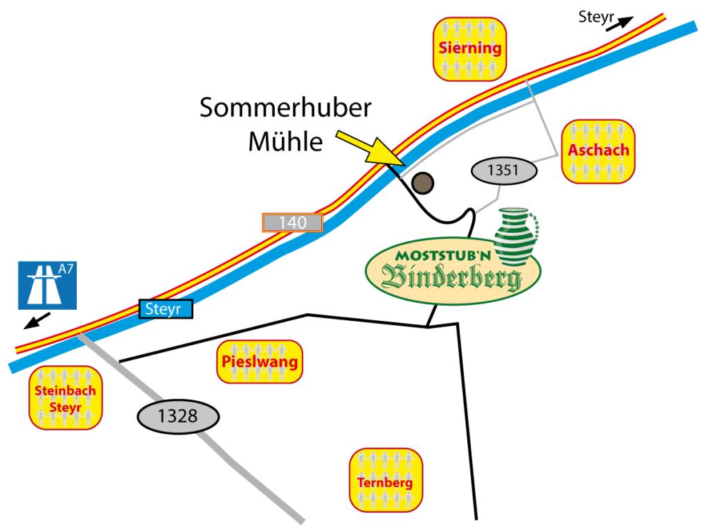 Karte Binderberg Anfahrt